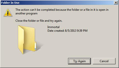 File is locked