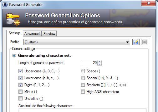 KeePass Password Generator