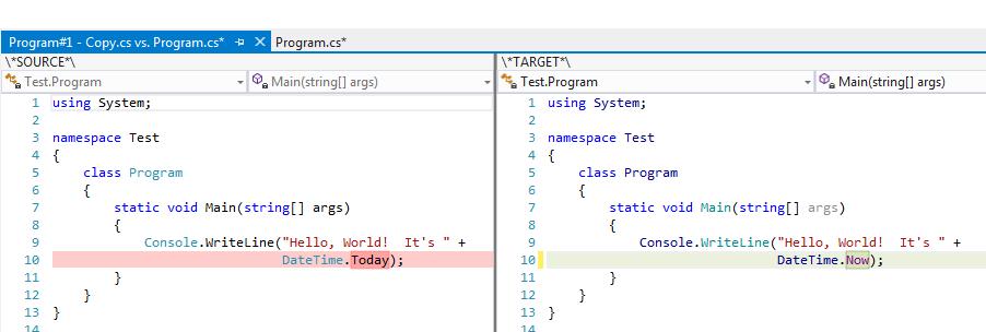 Visual Studio Diff