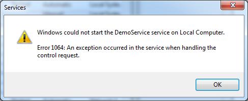 ServiceStartFailure