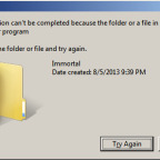 File is locked