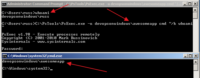 User Impersonation In Windows - PsExec