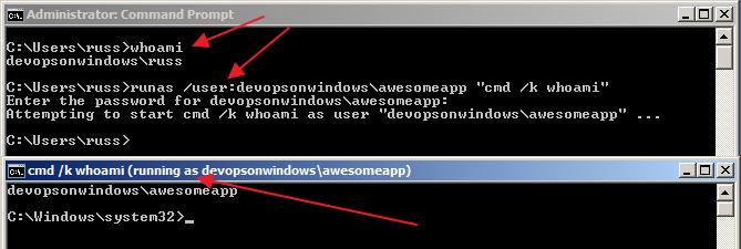 User Impersonation In Windows - Runas