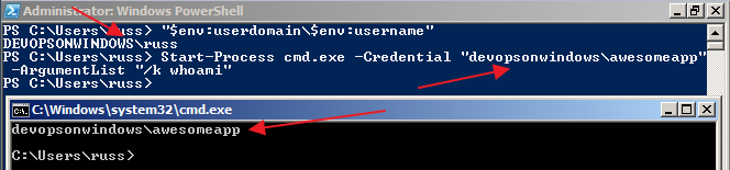 User Impersonation In Windows - PowerShell