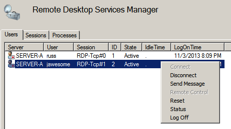 Remote Desktop Session Management