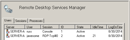 RDP Remote Sessions